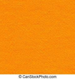 Felt Fabric Texture - Orange - High resolution close up of...