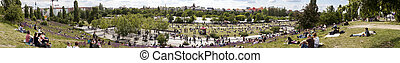 Mauerpark Flee Market Sunday Panorama