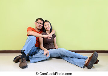 Happy young couples