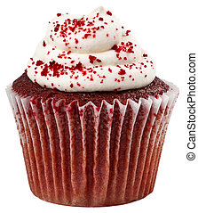 Red Velvet Cupcake - Red Velvet Cupckae with Red Sprinkles...