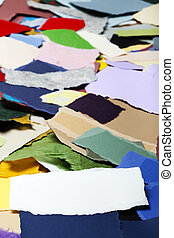 Torn Paper Banner on Torn Paper Background