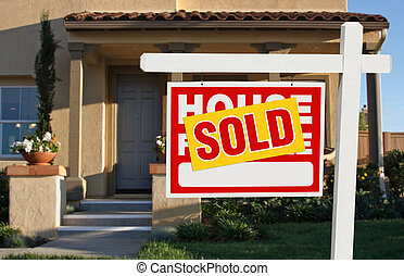 Home Sold For Sale Sign