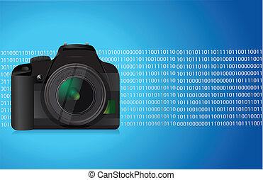 camera blue graphic illustration