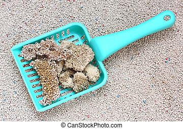 Cat Litter with cat sand scoop - White Sodium Bentonite Cat...