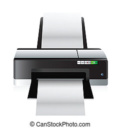 high quality printer illustration design over a white...
