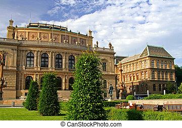 House - A house and garden at Prague, Czech