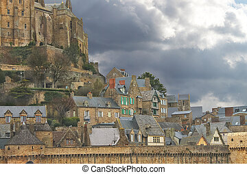 Abbey of Mont Saint Michel. Normandy, France