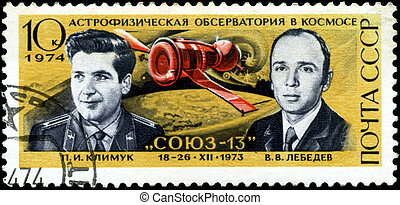 USSR - CIRCA 1974: A post stamp printed in USSR devoted...