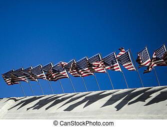 winkende,  U,  s, Flaggen