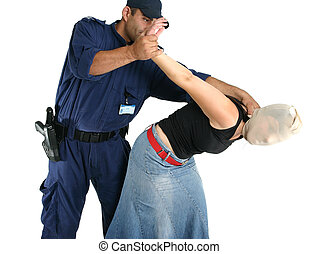 Apprehending a thief - Apprehending a masked thief or other...