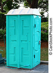 Portable toilet - Green color Portable toilet ready to...