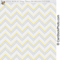 Vintage Seamless Chevron Pattern - Romantic full repeat...