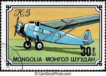 circa, série, selo, 1976, mongolia, impresso, mongolia-,...