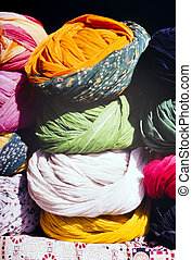 Indian Turbans - Turbans of many colors for sale at the...