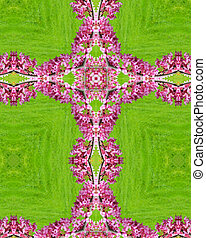 kaleidoscope cross: redbud blossoms - kaleidoscope cross:...