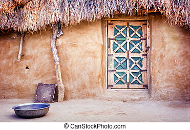 Village Hut - Exterior of a village hut in the Great Thar...