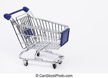 Einkaufswagen - Das Foto zeigt einen leeren Einkaufswagen