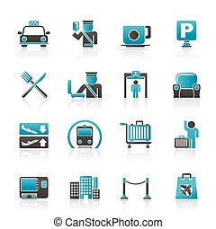 Airport icons - Airport, travel and transportation icons -...