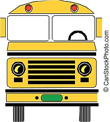 Yellow school bus Vector illustration