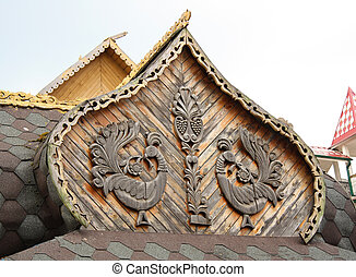 Traditional wooden Russian architec