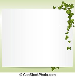 Vector springsummer frame with ivy leaves