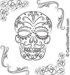 Skull - Dia de los muertos skull