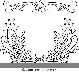 Decorative wreaths - Hand drawn decorative wreths filigree