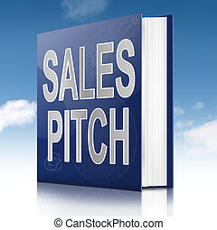 Sales pitch book. - Illustration depicting a book with a...