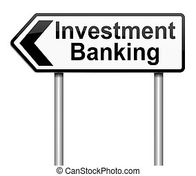 Investment banking concept - Illustration depicting a sign...