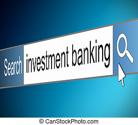 Investment banking concept - Illustration depicting a screen...