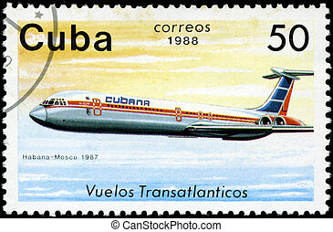 CUBA - CIRCA 1988: A Stamp printed in CUBA shows image of...