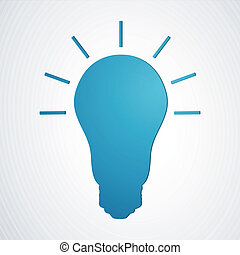 Vector Light Bulb - Vector Illustration of an Abstract Light...