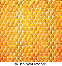 Vector Background with Honeycombs - Vector Illustration of a...