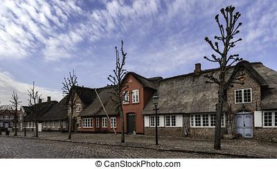 Mainstreet in Danish village, Møgeltønder - Møgeltønder is...