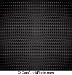 Black background of carbon fibre texture. Vector...