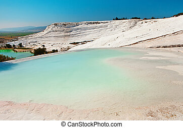 peru, piscinas, Terraços,  Travertine,  Pamukkale