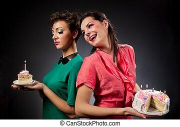 flickor, Tårta