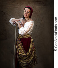 Working Peasant Girl - Life actually imitating Art - Working...