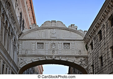 Bridge of Sighs - Ponte dei Sospiri. Venice, Italy, Europe....