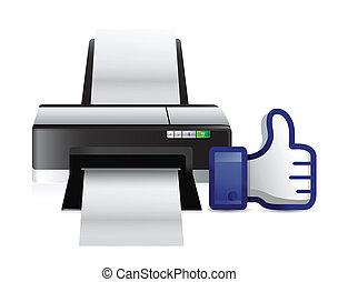 printer thumbs up like illustration