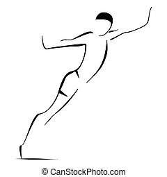 Man jumpping - Illustration of jumper on white background