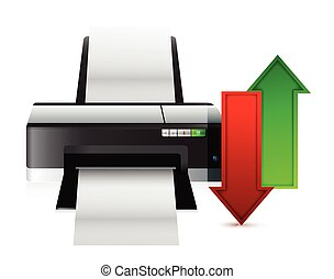 printer upload and download content