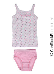 Childrens underwear - set for the girls underwear isolated...
