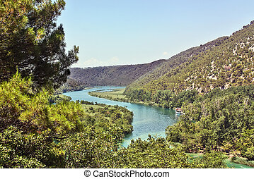 Krka national park in Croatia - landscape of Krka national...