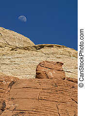 moonrise over Red Rock Canyon
