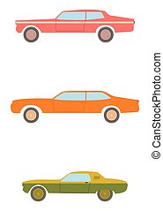 Muscle car. - American muscle car set.
