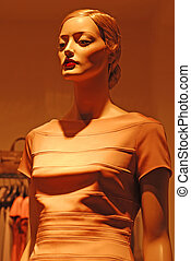fashion mannequin - Beautiful female fashion mannequin in...