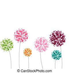 Abstract colorful background with flowers Vector...