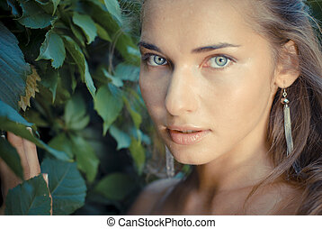 Young beautiful woman portrait