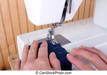 sewing on sewing machine